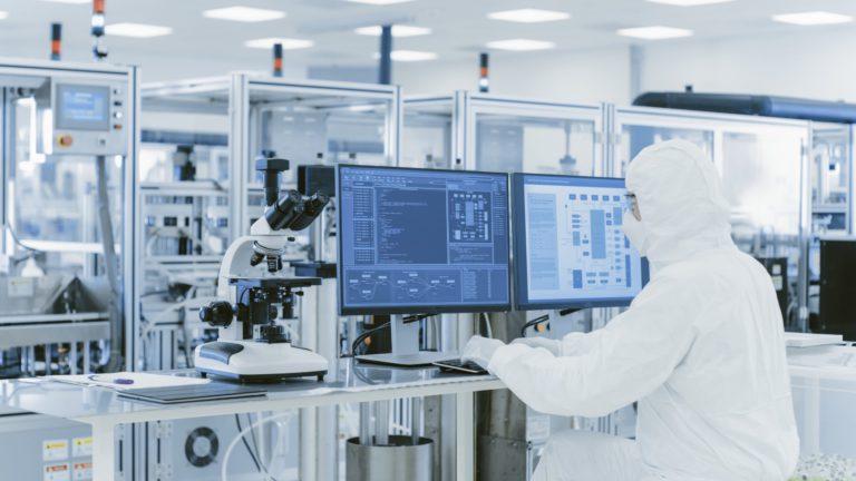 A Scientist In Laboratory